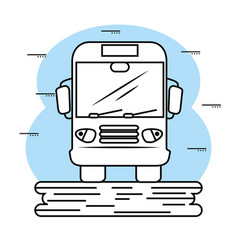 hand-drawn bus icon vector image