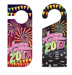 Happy New Year 2017 Door Hanger vector