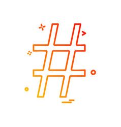 hashtag icon design vector image