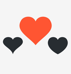 heart simple icons symbol of love happy vector image