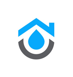 House combined with water symbol home plumbing vector
