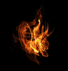 image of a fire flame vector image