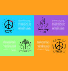International peace day 4 pics vector