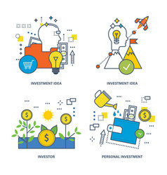 Investing types investment investor vector