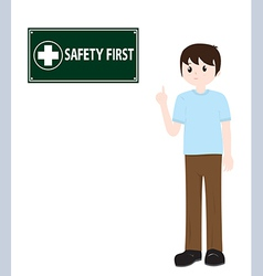 Man and Safety sign vector image