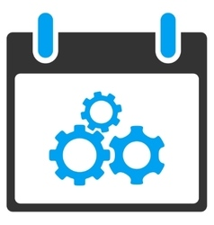 Mechanics Gears Calendar Day Toolbar Icon vector image