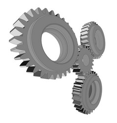 metal cog wheel vector image