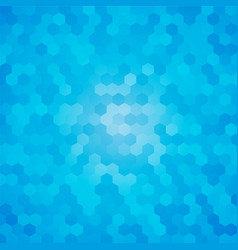 modern blue hexagon background vector image