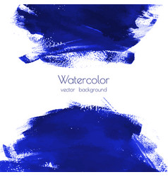 Navy blue indigo watercolor texture vector