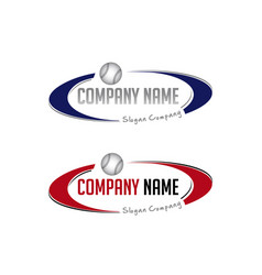 Oval baseball logo vector