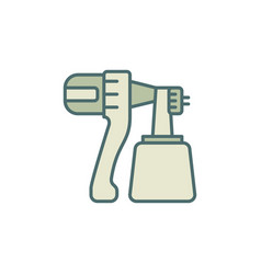 Paint sprayer concept colored modern icon or sign vector