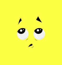 Pensive face vector