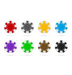 poker and casino chip gamble logo icon token vector image