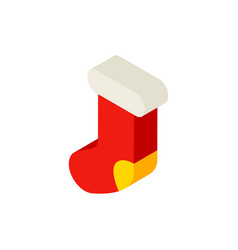 present sock isometric object vector image