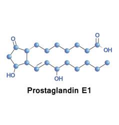 prostaglandin e1 alprostadil vector image