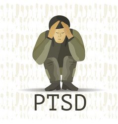 ptsd post traumatic stress disorder vector image