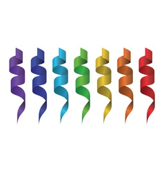 Rainbow in ribbons vector image vector image