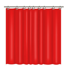 realistic detailed 3d blank red shower curtains vector image