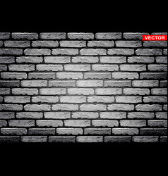 realistic gray brick wall texture background vector image
