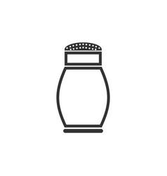salt shaker icon flat vector image
