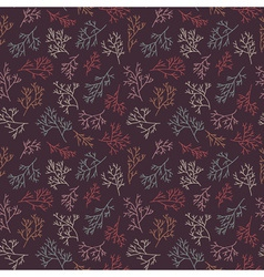 seamless pattern with twigs vector image