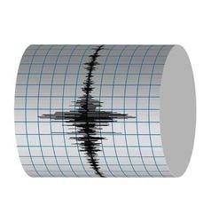 seismograph recording vibrations earthquakes vector image