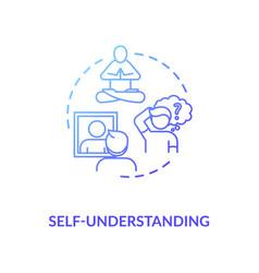 Self understanding blue gradient concept icon vector