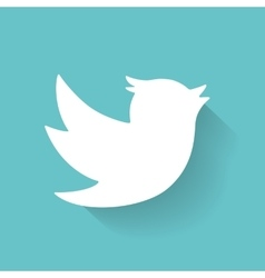Set of social media icons Bird vector image