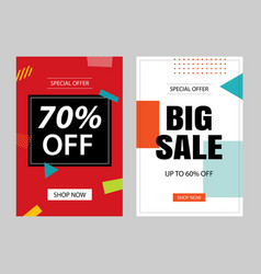 set sale banner templates vector image
