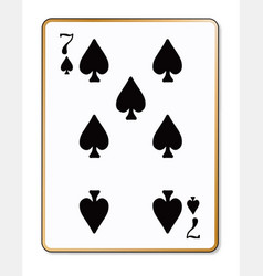 Seven spades playing card vector