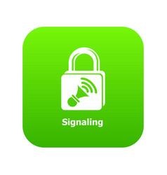 Signaling icon green vector