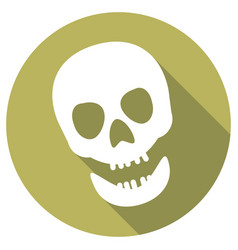 Skull icon a long shadow vector