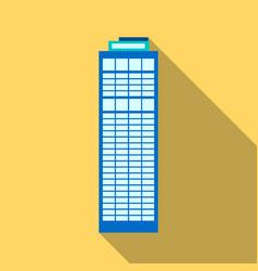 Skyscraper icon flate single building icon from vector