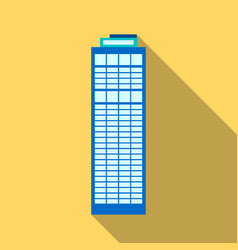skyscraper icon flate single building icon from vector image