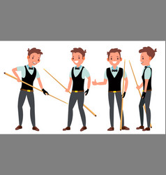 snooker male player in action vector image