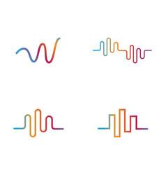 Sound wave ilustrations vector