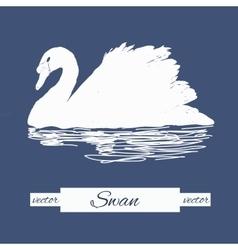 stylization swan for logo design vector image