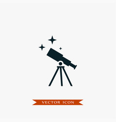 telescope icon education vector image