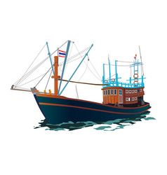 thai fishing ship vector image