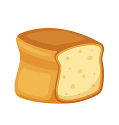 Toast bread head isolated on white background vector