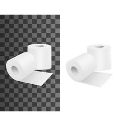 toilet roll realistic toilet paper 3d mockups vector image