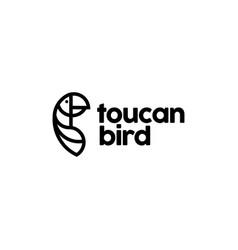 toucan bird logo design inspiration vector image