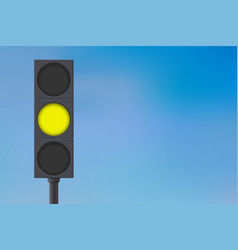 traffic lights with yellow light on vector image