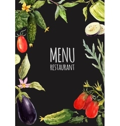 Watercolor menu template vector
