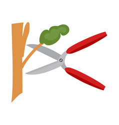 wood cutting accompanied by a white background vector image