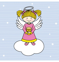 Angel on a cloud vector image vector image