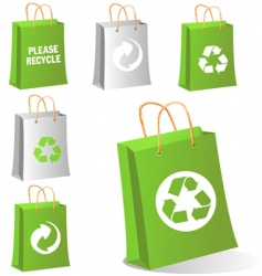 green bags vector image vector image