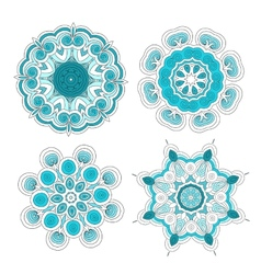 Set of arabesque ornament for your design vector image