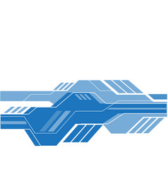 abstract blue technology on white vector image