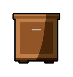 cabinet table furniture shadow vector image